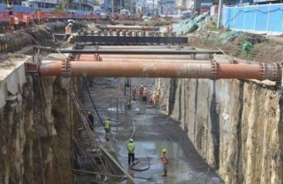 王母阁路综合管廊全面开挖 9月份主体完工