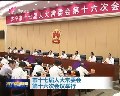 市十七届人大常委会第十六次会议举行