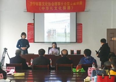 济宁市茶文化协会茶艺表演进社区 带给观众美妙感受