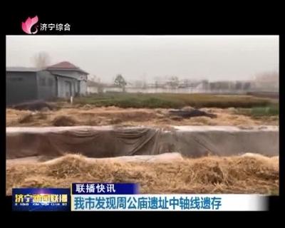 龙8发现周公庙遗址中轴线遗存