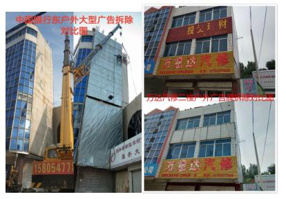 """整治户外危?#23637;?#21578;牌,创建美丽""""新泗水"""""""