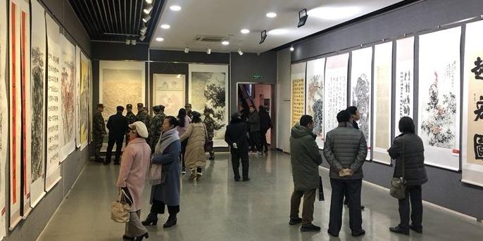 济宁市纪念改革开放40周年书画作品展举行