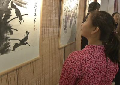 家门口看画展 感受浓浓传统文化气息
