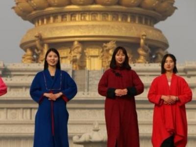 """新年第一天 千名汉服游客""""穿越""""到兖州兴隆文化园祈福"""