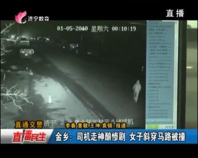金乡:司机走神酿惨剧 女子斜穿马路被撞