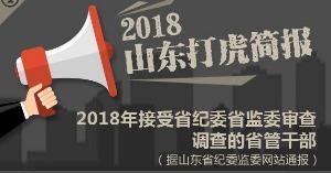 """十八大后不收手…2018年这些山东""""老虎""""被打"""