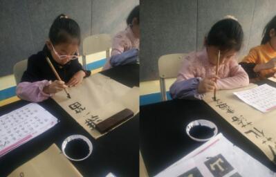 济宁广电书画院公益课堂寒假班毛笔书法课程回顾