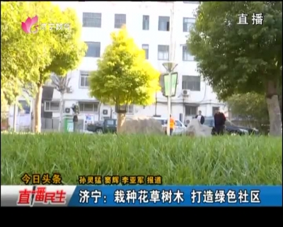 济宁:栽种花草树木 打造绿色社区