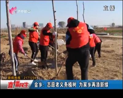 金乡:志愿者义务植树 为家乡再添新绿