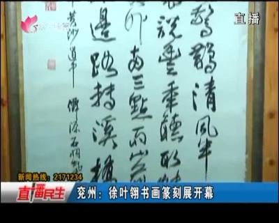 兖州:徐叶翎书画篆刻展开幕