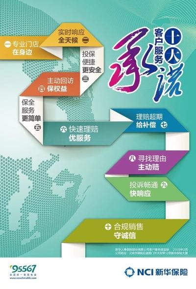 新华保险发布2019年客户服务十大承诺