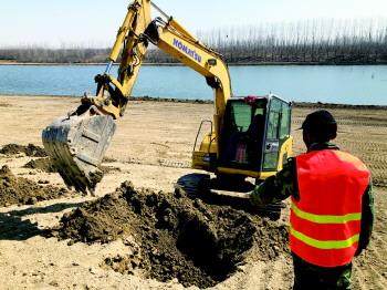高新區洸府河景觀綠化一期工程開工 扮靚洸府河畔