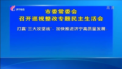 市委常委会召开巡视整改专题民主生活会