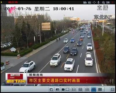 市区主要交通路口实时画面