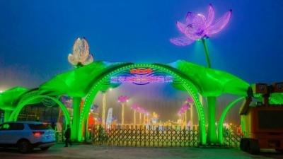 山東首個夜景公園空降微山 首屆微山湖燈光藝術節將啟幕