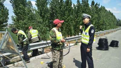 济宁高速支队汶上大队强化施工管控 保障道路安全