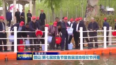 微山:第七屆放魚節暨首屆濕地櫻花節開幕