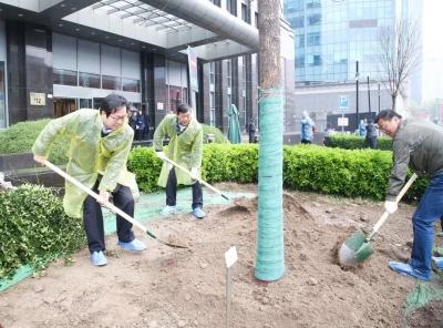 喜迎建國70周年 新華保險舉辦植樹綠化活動
