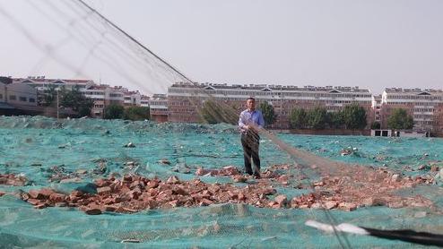 40米長的捕鳥網!濟寧森林公安現場銷毀