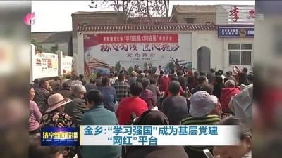 """金乡:""""学习强国""""成为基层党建""""网红""""平台"""