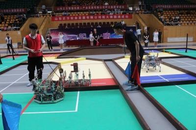 第七届山东省大学生机器人大赛邹城开赛 八强诞生