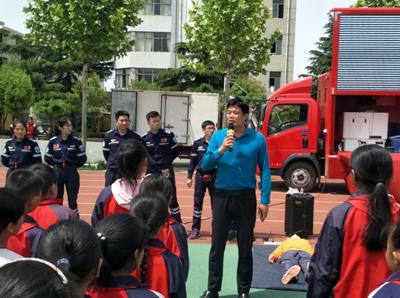 安全意味着一切 杨村煤矿中学开展体验式安全教育活动