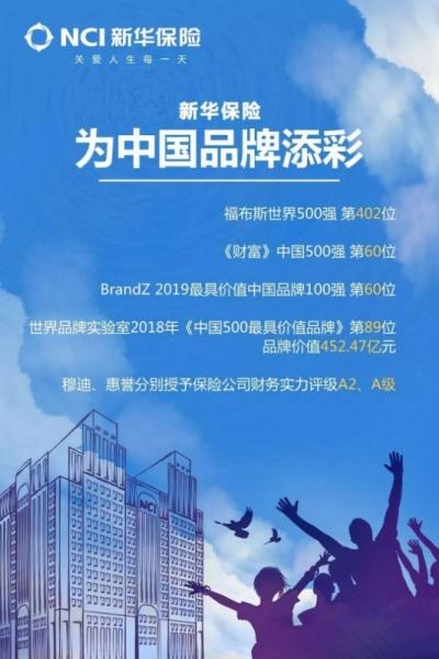 新华保险,为中国品牌添彩!