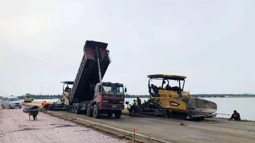 临菏路太白湖新区段完工80% 预计6月底通车