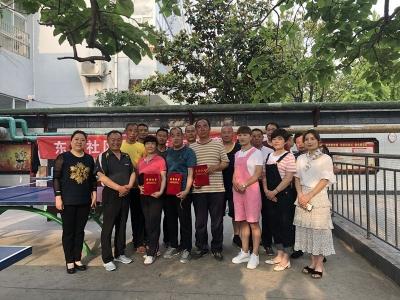 古槐街道东门社区举行乒乓球比赛 增进邻里感情
