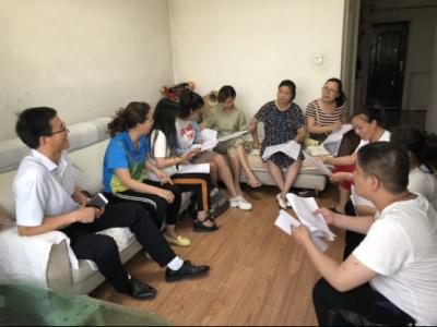携爱家访 静等花开  高新区杨村煤矿中学教师全员家访