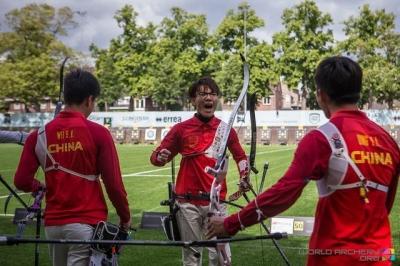 中国队首夺射箭世锦赛男团冠军 队员有咱济宁小伙