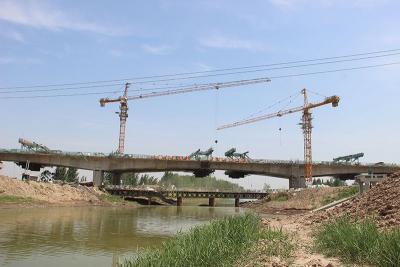最新进展!枣菏高速鱼清河大桥左幅中跨完成合龙