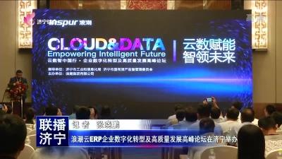 浪潮云ERP企业数字化转型及高质量发展高峰论坛在济宁举办