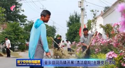 """金乡县司马镇开展""""清洁庭院""""主题党日活动"""