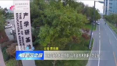 """高新区三?#31227;?#19994;入选2019年""""山东省技术创新示范企业"""""""