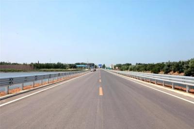 太白湖新区矿外路(石桥镇入口至三号井段)完工通车