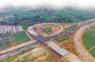 新进展|日兰高速曲阜东互通立交9月底建成