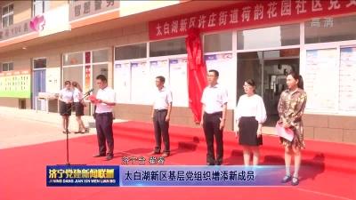 太白湖新区基层党组织增添新成员