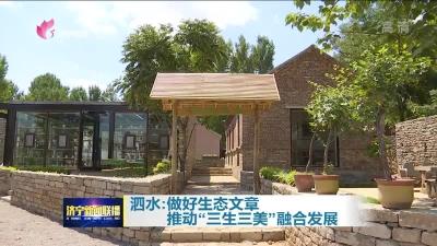 """泗水:做好生态文章 推动""""三生三美""""融合发展"""