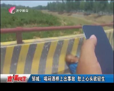 邹城:喝闷酒桥上出事故 愁上心头欲轻生