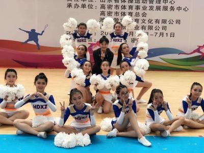 """在这项""""力与美""""的比赛中,济宁这所学校勇夺桂冠"""