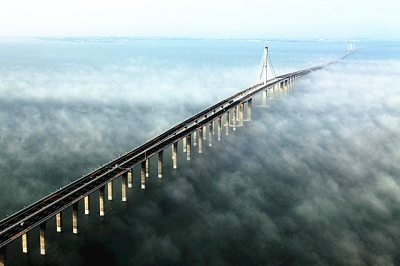 【我爱这片蓝色的国土】青岛胶州湾大桥飞架东西 荣登全球最棒的11座桥梁