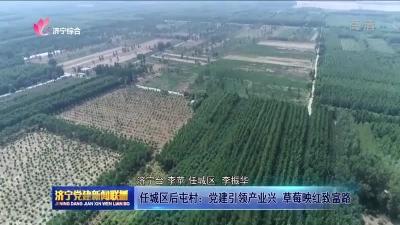 任城区后屯村:党建引领产业兴 草莓映红致富路