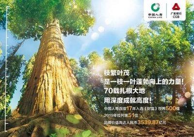 中国人寿连续17年入选《财富》世界500强
