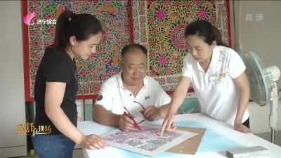 李景春:把對生活的美好祈願印在一張老布上