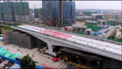 视频 | 60秒带你了解火炬路跨线桥转体全过程