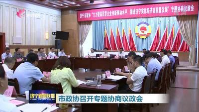 市政协召开专题协商议政会