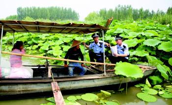 坚守责任守护安宁 湖上公安:微山湖上的别样风采