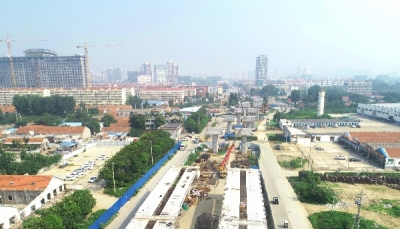 王母閣路跨線橋工程架設第二批箱梁,部分路段禁行