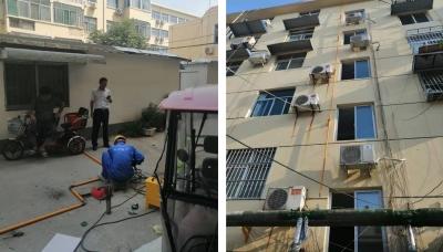 问政济宁·追踪|老旧小区燃气管道进入安装施工阶段